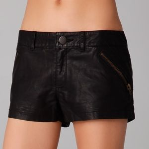 Free People Shorts - Free People Vegan Leather Shorts